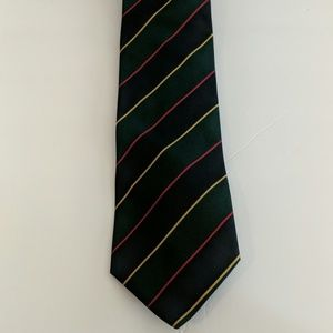 J. Crew Green Striped Tie